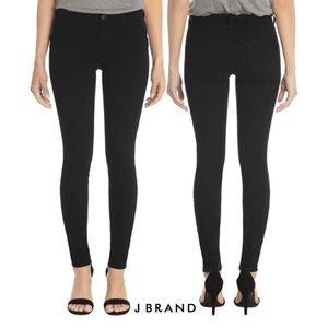 J Brand black super skinny stretch black jeans